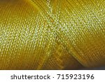 nylon chord   yellow | Shutterstock . vector #715923196