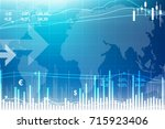 economic background with...   Shutterstock .eps vector #715923406