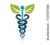 caduceus medical symbol ... | Shutterstock .eps vector #715937068