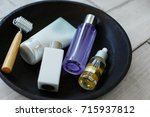 face care and spa cosmetics set ... | Shutterstock . vector #715937812