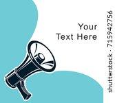vector advertising leaflet card ... | Shutterstock .eps vector #715942756