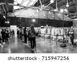 Small photo of NEW YORK, NY - September 11, 2017: Models prepare backstage for the Zadig & Voltaire Spring Summer 2018 fashion show during New York Fashion Week Women's