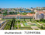 lisbon aerial view. panorama of ... | Shutterstock . vector #715949386