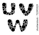 alphabet  black color   part... | Shutterstock .eps vector #71595529