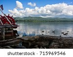 a view of the hudson river from ... | Shutterstock . vector #715969546