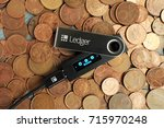 cryptocurrencey hardware wallet ... | Shutterstock . vector #715970248