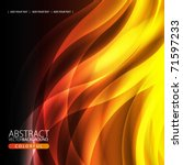 abstract background with flame | Shutterstock .eps vector #71597233
