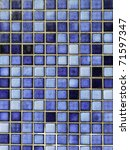 blue square tiles | Shutterstock . vector #71597347
