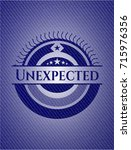 unexpected emblem with jean... | Shutterstock .eps vector #715976356