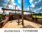 Deck Of The Old Ship And The...