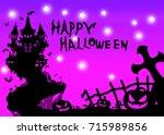 halloween pattern | Shutterstock . vector #715989856