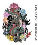 Japanese Old Dragon Tattoo For...