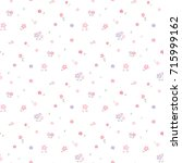seamless pattern of pastel... | Shutterstock .eps vector #715999162