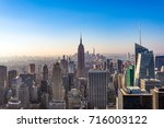 manhattan skyscrapers at... | Shutterstock . vector #716003122