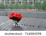 roses at the 9 11 memorial | Shutterstock . vector #716004298