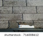 Old Gray Asphalt Shingle Roof