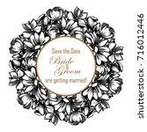 vintage delicate invitation... | Shutterstock . vector #716012446