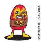 red cat wrestler   Shutterstock .eps vector #71601865