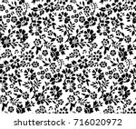 cute small floral pattern | Shutterstock .eps vector #716020972