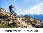 top of the world trail ... | Shutterstock . vector #716021908