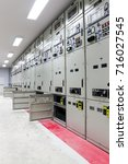 electrical switchgear in... | Shutterstock . vector #716027545