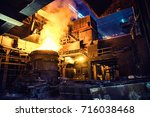 steel making shop | Shutterstock . vector #716038468