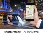 control of self driving bus by... | Shutterstock . vector #716040598