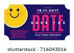 save the date card. modern... | Shutterstock .eps vector #716043016