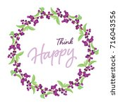 berries wreath with leaf on... | Shutterstock .eps vector #716043556