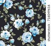 seamless pattern with vintage... | Shutterstock .eps vector #716049616