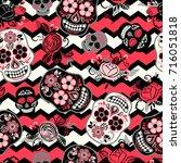 dia de los muertos. day of the... | Shutterstock .eps vector #716051818