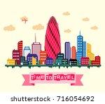 vector illustration of london...   Shutterstock .eps vector #716054692