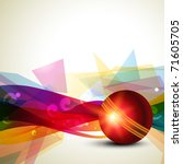 cricket ball colorful... | Shutterstock .eps vector #71605705