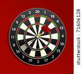 dart is in the aim | Shutterstock .eps vector #71606128