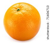 ripe orange isolated on white... | Shutterstock . vector #71606713