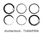 grunge circle brush  vector... | Shutterstock .eps vector #716069506