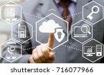 cloud computing insurance   web ... | Shutterstock . vector #716077966