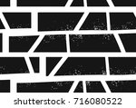 abstract hand drawn textured... | Shutterstock .eps vector #716080522
