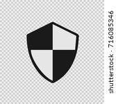 shield vectoricon eps 10. | Shutterstock .eps vector #716085346