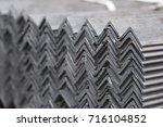 metal profile angle in packs at ...   Shutterstock . vector #716104852