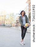 beautiful african american...   Shutterstock . vector #716111932