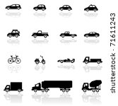 icon set  vehicles | Shutterstock .eps vector #71611243
