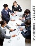 team of five business people... | Shutterstock . vector #71611585