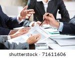 close up of businessman... | Shutterstock . vector #71611606