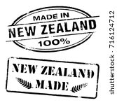 made in new zealand stamp ... | Shutterstock .eps vector #716124712