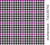 vector seamless hounds tooth... | Shutterstock .eps vector #716130742