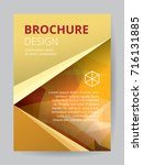 flyer template a4 size gold low ... | Shutterstock .eps vector #716131885