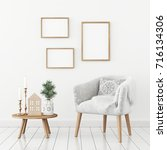 three frames composition on... | Shutterstock . vector #716134306