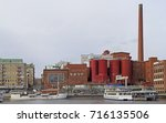 Small photo of TAMPERE, FINLAND - APRIL 7, 2017: Tako cardboard factory in city Tampere Finland