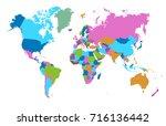 color world map | Shutterstock .eps vector #716136442